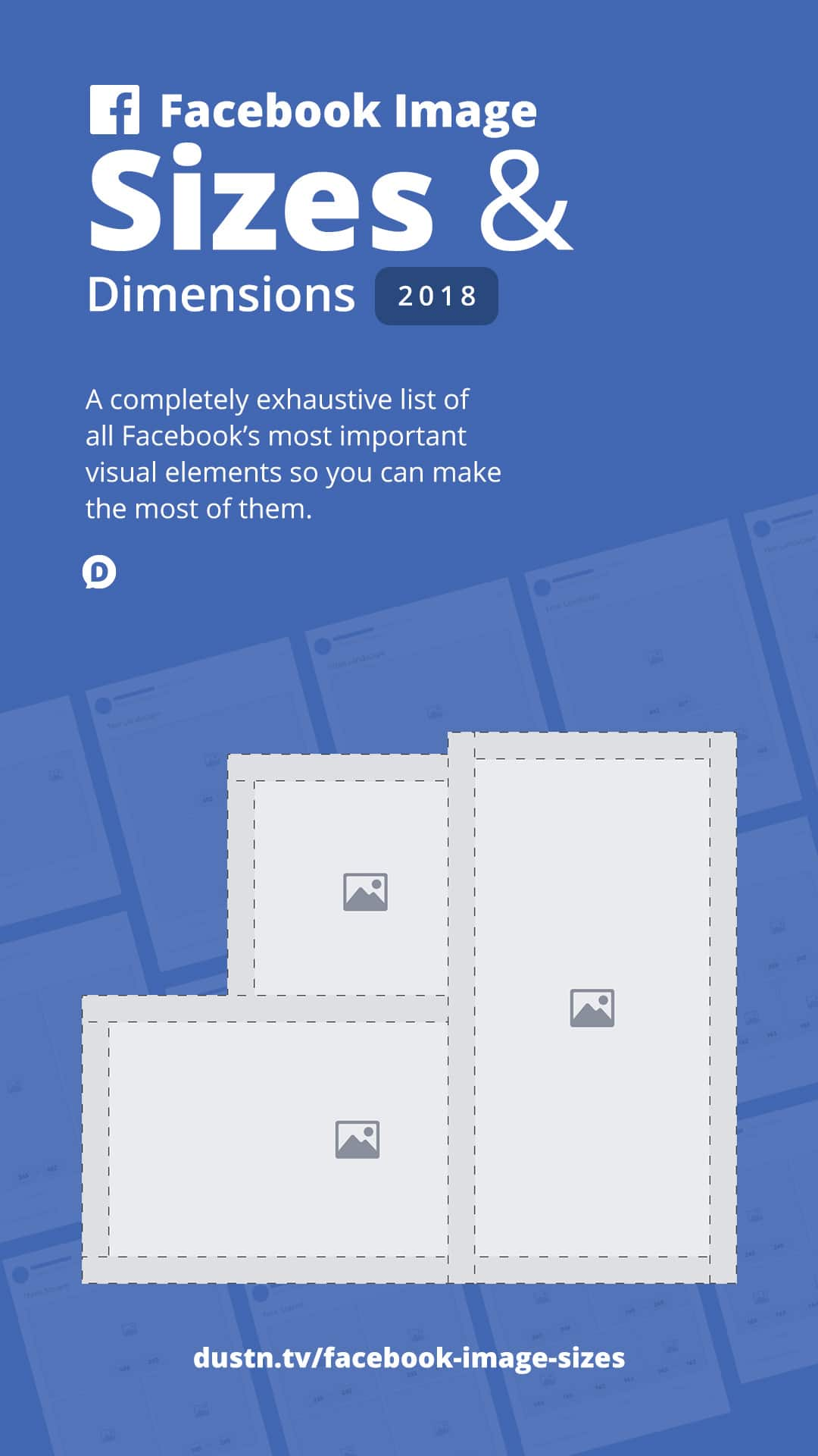 What are all the Facebook image sizes you need to know in 2018? Well, consider this your one-stop guide to everything from Facebook cover photo size to profile picture size, ad sizes, and more. #socialmedia #socialmediamarketing #socialmediatips #facebookmarketing #facebook