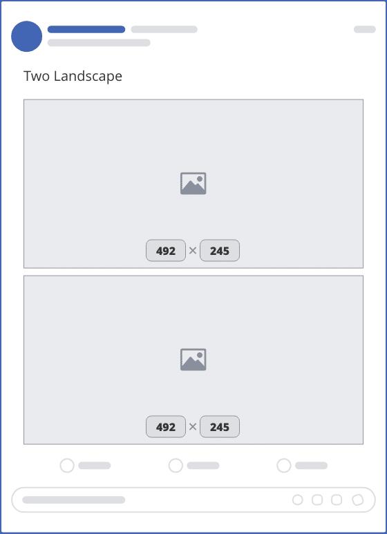 facebook two landscape upload mockup