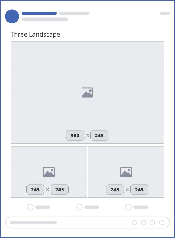 facebook three landscape upload mockup
