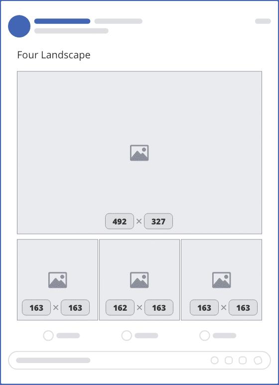 facebook four landscape upload mockup