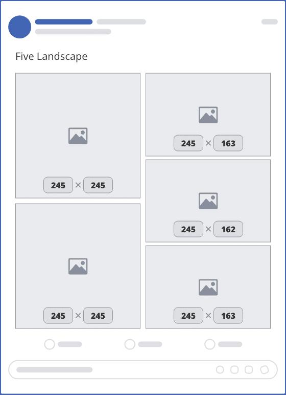 facebook five landscape upload mockup