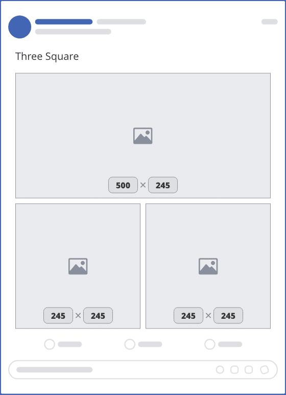 facebook three square upload mockup