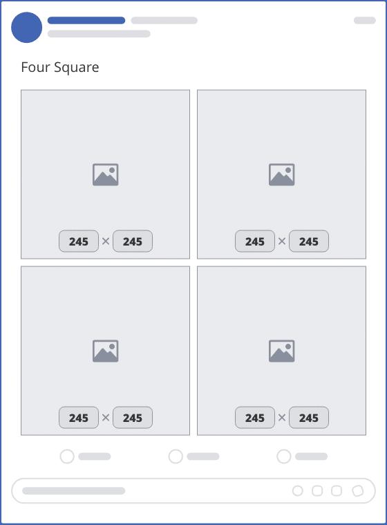 facebook four square upload mockup