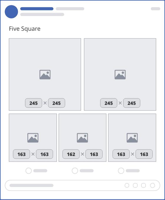 facebook five square upload mockup