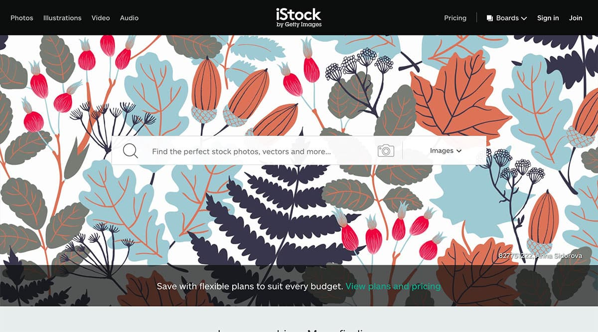 istockphotos screenshot