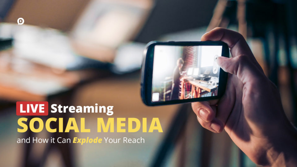 live streaming social media hand holding phone