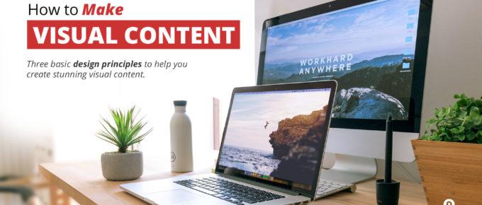 how to make visual content desk setup